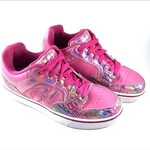 Heelys Motion Plus Pink Hologram Roller Skate Shoe
